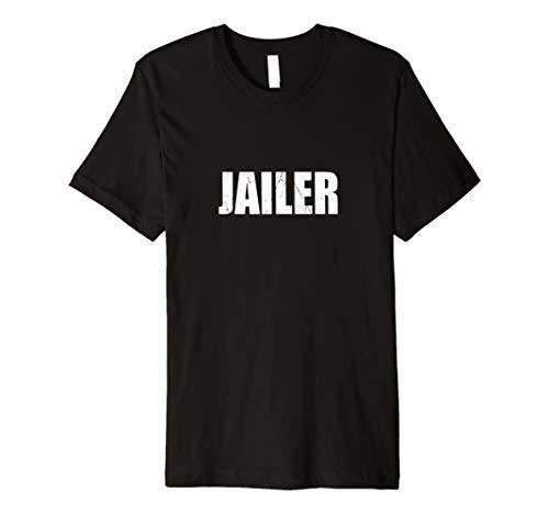 (Jailer T Shirt Halloween Costume Funny Retro)