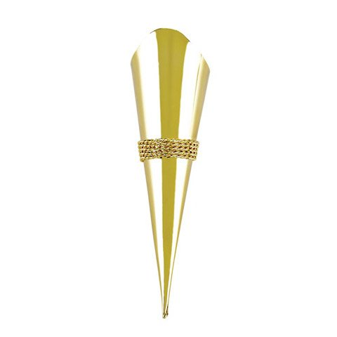 Bulk Buy: Darice DIY Crafts Victoria Lynn Lapel Pin Vase with Braid Trim Gold (6-Pack) VL1162-09 (Vase Pin Lapel)