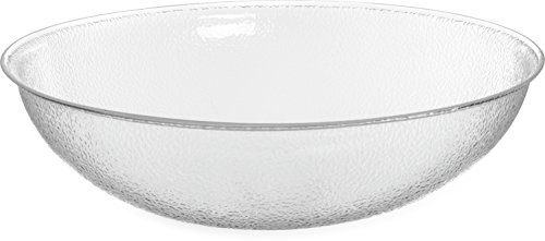 Carlisle SP2207 Acrylic Pebbled Punch Bowl, 24-qt. Capacity, 22'' Diameter x 11.12'' Height, Clear by Carlisle (Image #7)