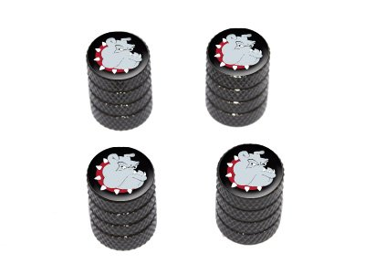 Graphics and More Bulldog Dog - Tire Rim Valve Stem Caps - Black