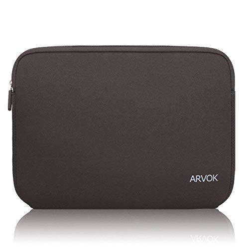 ARVOK 13-14 Inch Laptop Sleeve Multi-Color & Size Choices Case/Water-Resistant Neoprene Notebook Computer Pocket Tablet Carrying Bag Cover, Brown