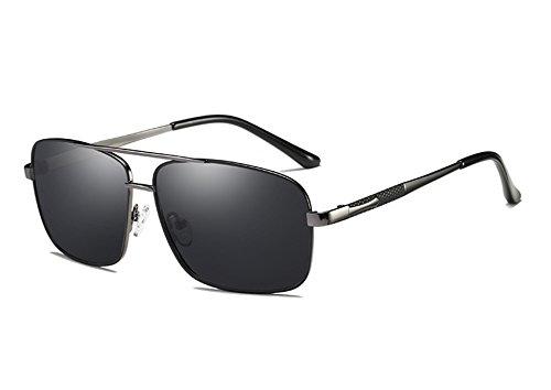 de Mujeres de Unisex Hombres Sol Gris para Gafas Cuadrado Hombre polarizadas Gafas Gafas gray gray de Gafas Espejo Sunglasses Sol TL Accesorios Gris 7w4pqUU