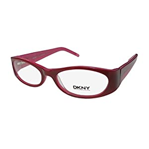 DKNY 4578 Womens/Ladies Designer Full-rim Flexible Hinges Eyeglasses/Eyewear (50-16-135, Raspberry / Pink)