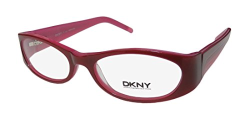 DKNY 4578 Womens/Ladies Designer Full-rim Flexible Hinges Eyeglasses/Eyewear (50-16-135, Raspberry / Pink) Dkny Glasses Frames