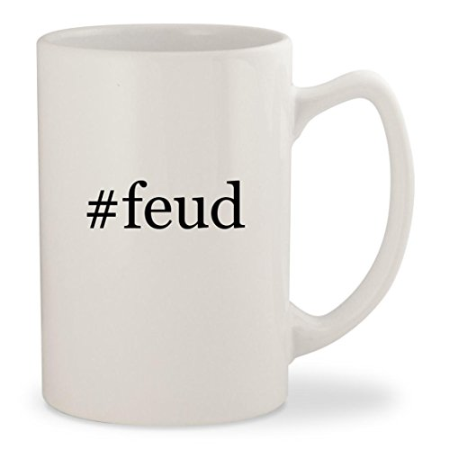 #feud - White Hashtag 14oz Ceramic Statesman Coffee Mug Cup