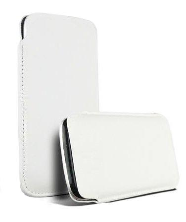 """Slim White Handytasche für Apple Iphone 6 Plus (5,5"""") / Handyhülle Smartphone Hülle Schutztasche Etui Schutzhülle Tasche Case Cover Schutz Handy Pouch in Weiss"""