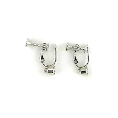 Screw On No Bend Pierced To Clip Earring Converter Silver Amazon Co