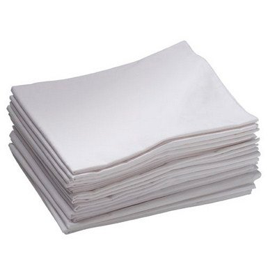 Toddler Cot Sheets in White - Set of 12 (48 in. L x 19 in. W)
