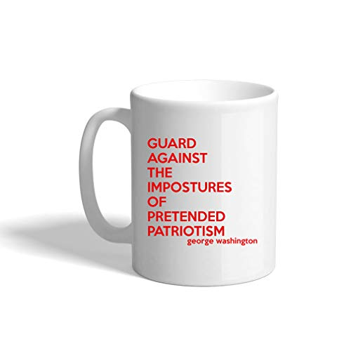 Red Guard Against The Impostures Of Pretended Patriotism Ceramic Coffee Cup White Mug
