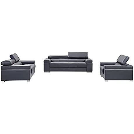 J And M Furniture 176551113 LS GR Soho Loveseat In Grey Leather