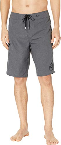 O'Neill Men's Santa Cruz Solid 2.0 Boardshorts Heather Black 31 ()