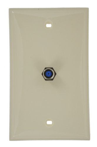 Leviton 80781-A Standard Video Wall Jack, F Connector, Almond