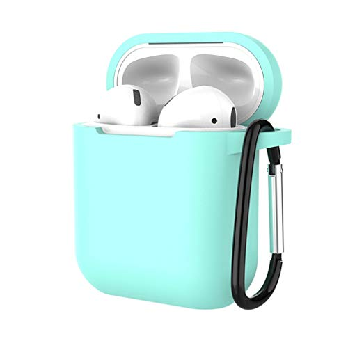 YRD TECH Case Protective Silicone Cover and Skin with Ear Hook for Apple AirPods, Best Gift for Girls and Women (Mint Green)