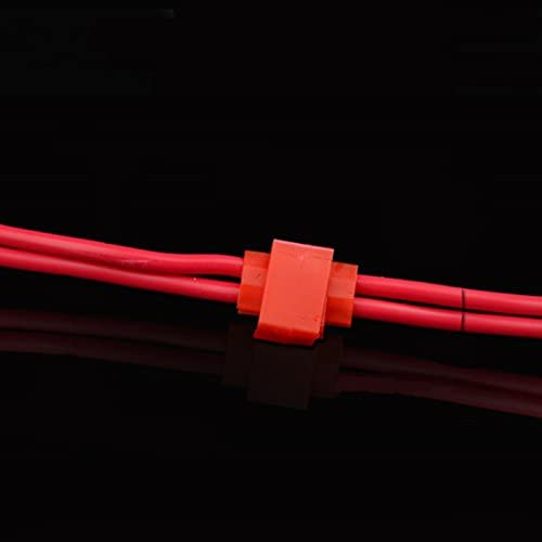 50 pcs Bornes Sertissage C/âble Electrique Connecteurs Epissure Rapide Rouge