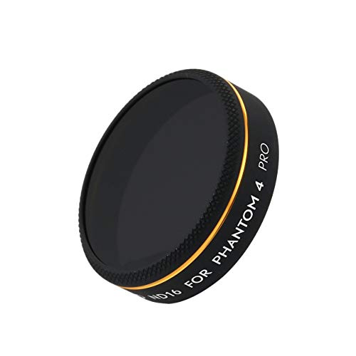 (Liobaba RC Drone Accessories Camera HD ND16 Light Reduction Lens Filter for DJI Phantom 4 PRO FPV RC Quadcopter Component Spare Parts Black)