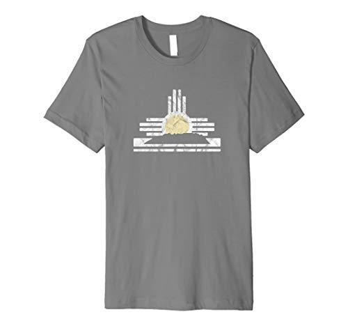 (New Mexico Tshirt - Sandia Mountain skyline and Zia symbol)