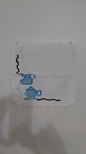 Handmade Needle Point and Crochet Dish Cloths (Set of Three) by Handmade