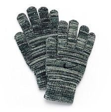 Nike Youth Heather Grey (9A2649-G1A) / Dark Grey/Black Tech Touchscreen Swoosh Knitted Winter Ski Snow Gloves, Size 8/20