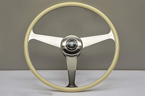 (Nardi Steering Wheel - Vintage Ivory - 420mm (16.54 inches) - Ivory Grip w/Flat Guilloche Spokes - Part # 7012.42.3000)