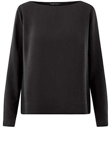 Camicetta 2900n oodji Nero Basic Ultra Donna Viscosa in gxq6zn