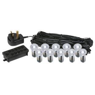 10 15mm led lights plinth decking deck lighting white. Black Bedroom Furniture Sets. Home Design Ideas