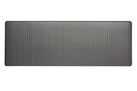 Imprint Cumulus9 Kitchen Mat Chevron Series Island Area Runner 26 in. x 72 in. x 5/8 in. Steel Grey (Imprint Comfort Mat Cumulus9)