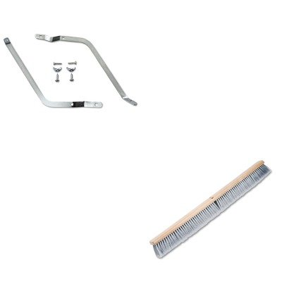 KITBWK119BWK20436 - Value Kit - Boardwalk Metal Handle Braces (BWK119) and Boardwalk Floor Brush Head (BWK20436)
