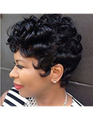 : AisiBeauty Short Curly Wigs for Black Women Natural Curly Synthetic Wigs Heat Resistant African American Full Wigs