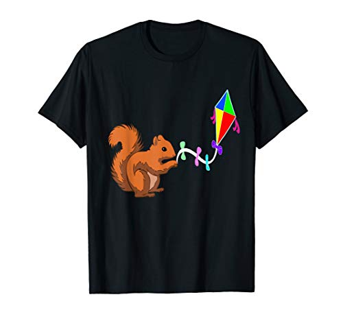 Funny Squirrel Kite Flyling Kite Flyer Rodent T-Shirt Gifts