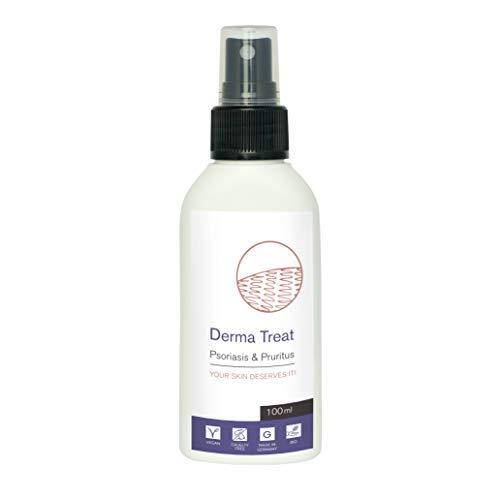 Psoriasis moisturiser & eczema itch spray by DERMA TREAT | 100ml | Scaly skin cream | Itchy skin moisturizer | Magnesium oil & Aloe vera
