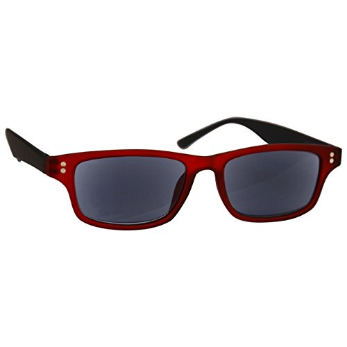 50 UV UV Black Inc UVSR033 Strength Mens Readers Rubberized Sun by Red Womens Reader UV400 Reader Glasses 3 Case Reading awqOSUracP