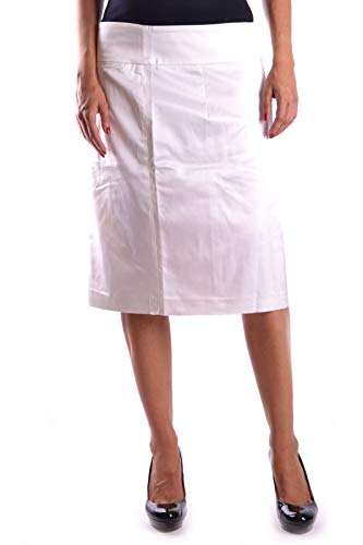 GIANFRANCO FERRÉ Women's Mcbi16011 White Acetate Skirt