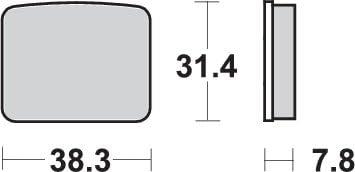 /Pastiglia freno composito ceramica Derbi FD Puch SBS/ FDX p625hf FDS