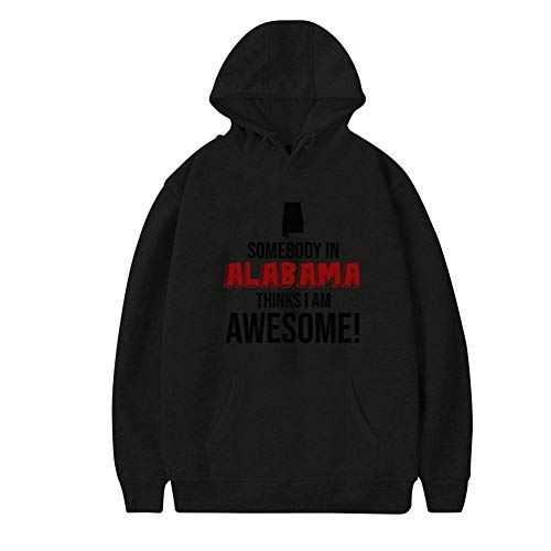 Aharyoa Mens Hoodies,Somebody in Thinks I Am Awesome Fashion Printed Plush Pocket Sweater,Soft and Warm XXL Black ()