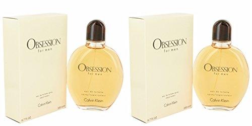 Cálvin Klèin Obséssion Cológne For Men 6.7 oz Eau De Toilette Spray + a FREE 2.6 oz Deodorant Stick (PACKAGE OF (Obsession Deodorant Cologne)