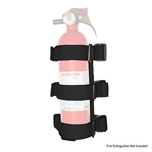 Black Roll Bar Fire Extinguisher Holder for Jeep Wrangler JK JL TJ YJ u-Box