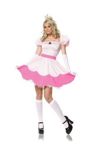 Leg Avenue Women's Plus-Size 3Pc. Princess Off The Shoulder Dress Tiea and Gloves Adult Costume, Pink, X-Large -