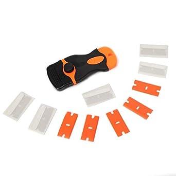 Car Sticker Remover Edge Blade Razor Scraper Set Window Spatula Tools Safety