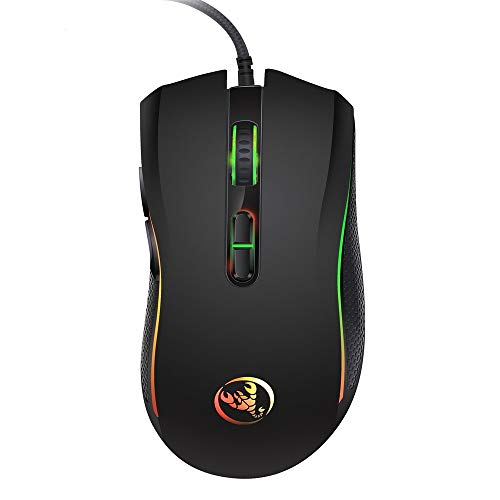 Sonmer High-end Optical Professional 7 Buttons Gaming Mouse, 7 Bright Color LED Backlit,4 Adjustable DPI Levels (Best Mouse Sensitivity For League Of Legends)