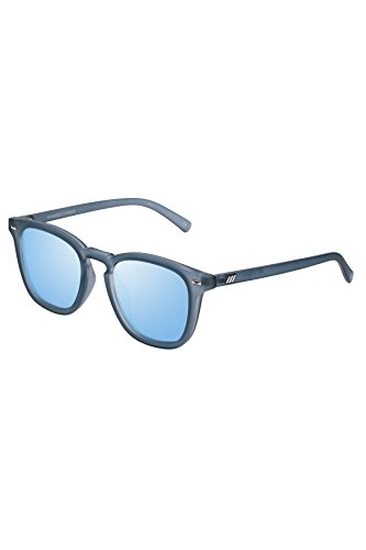 Le Specs Women's No Biggie Sunglasses, Slate Rubber/Ice Blue Revo, One - Le Sunglasses Specs Mirrored