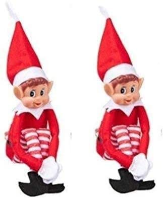 mxdmai Elf Plush With Vinyl for Christmas Home Party Decoration Pack Of 2