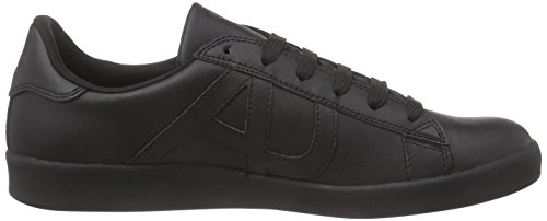 Armani Jeans Mens Spets-up Mode Sneakers 06565yo Svart