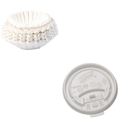 KITBUN1M5002DXETB9540 - Value Kit - Dixie Plastic Lids for Hot Drink Cups (DXETB9540) and Bunn Coffee Commercial Coffee Filters (BUN1M5002) by Dixie