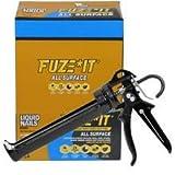 Liquid Nails LN-2000 FuzeIt Construction Adhesive, 12 - 9.0 oz Tubes, Pro Caulk Gun