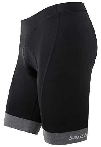 Santic Men's Cycling Shorts Padded Bicycle Riding Pants Bike Biking Cycle Wear Breathable