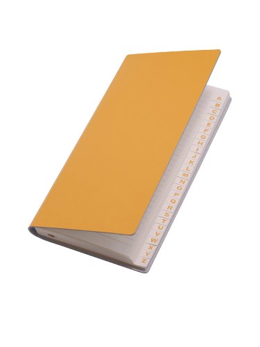 paperthinks-yellow-gold-recycled-leather-long-address-book-3-x-65-inches-pt93990