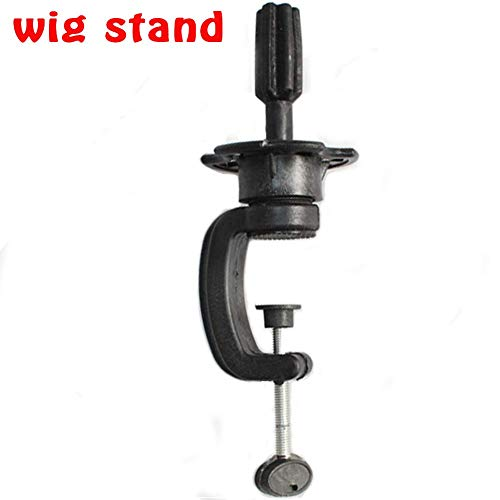 Wig Head Stand Clamp for Cosmetology Wig Holder Clamp Professional C clamp Stand for Mannequin Manikin Training Head Black FFLIN