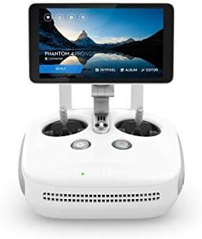 DJI - Drone Phantom 4 PRO Plus V2.0 - Version UE, enregistre des vidéo 4K / 60fps et des images en à 14 vps, avec télécommande et moniteur intégré - Blanc