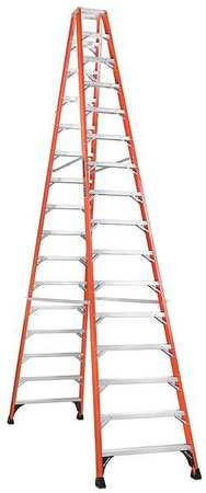 (Twin Stepladder, Fbrgls, IAA, 16ft, FM1400HD)