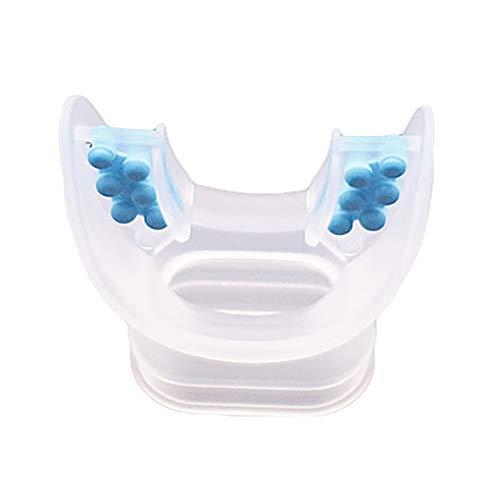 Motorcycle Helmet Mouthpiece - SuBoZhuLiuJ Scuba Mouthpiece Silicone Throwaway Diving Breathe Tube Snorkel Regulator - Transparent Blue